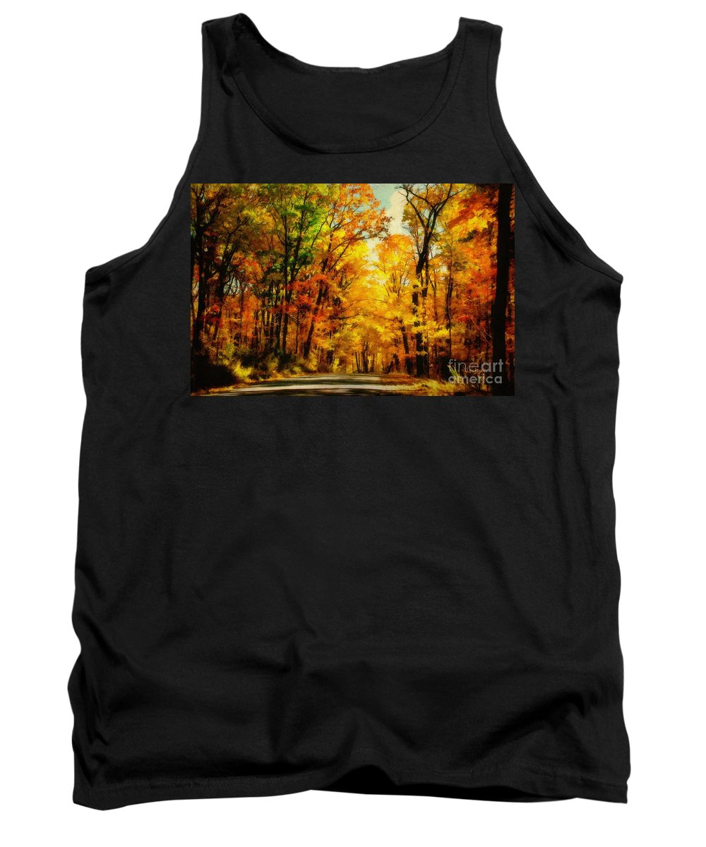 Trees Tank Top featuring the photograph Natural Cathedral by Lois Bryan