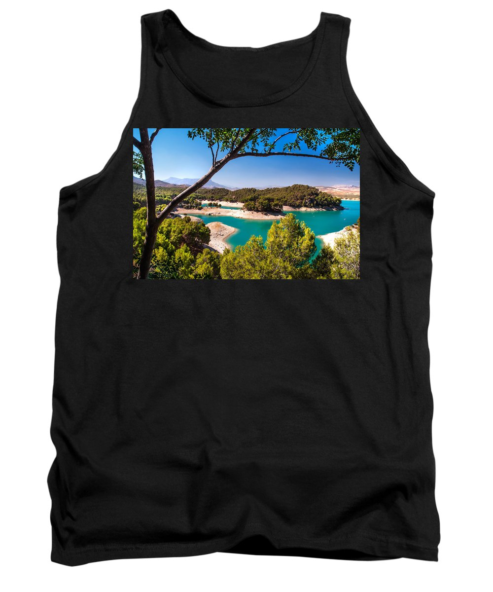 Tank Top featuring the photograph Natural Framing. El Chorro. Spain by Jenny Rainbow