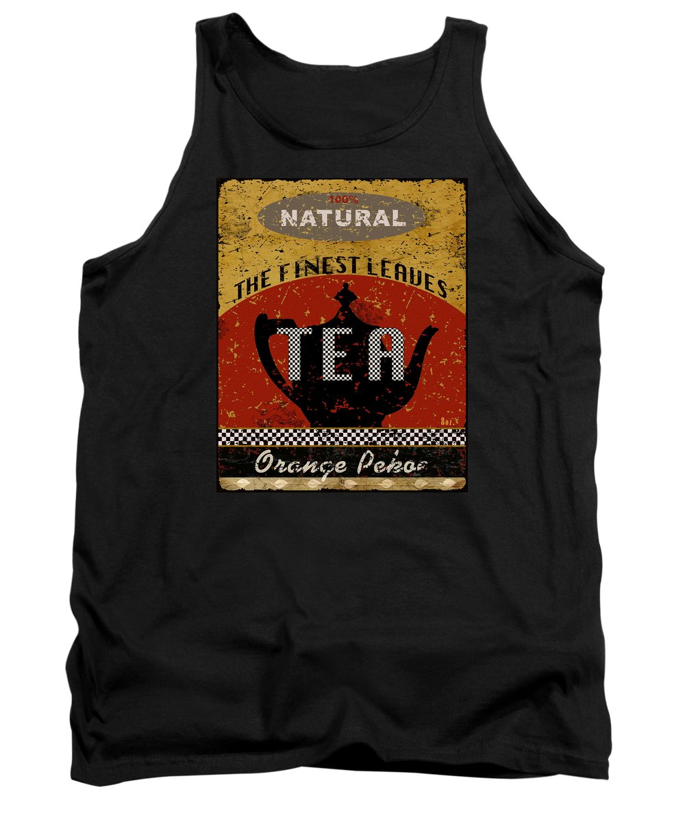 Tea Tank Top featuring the mixed media Natural Tea by Marilu Windvand