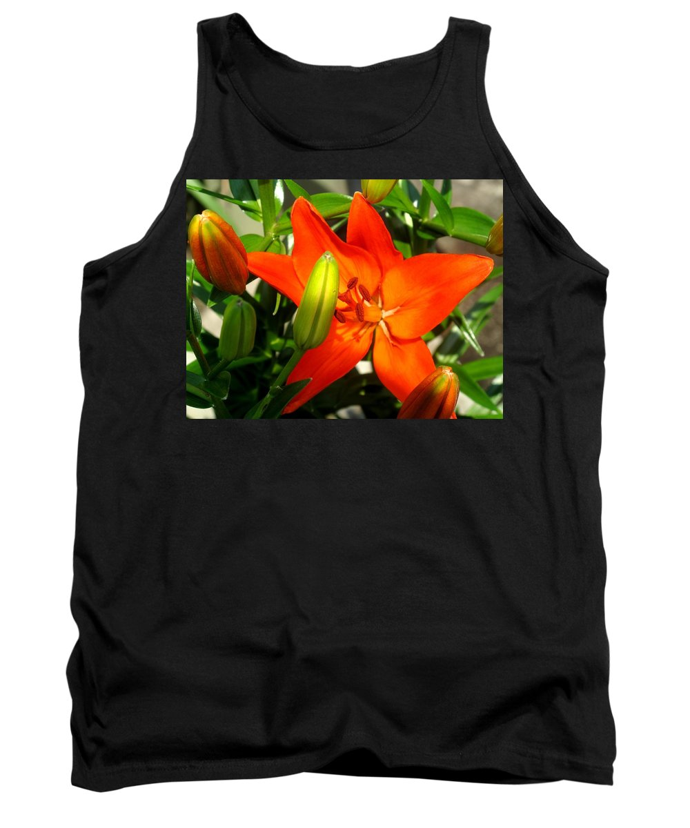 Flower Tank Top featuring the photograph Naturally Intense by Ian MacDonald