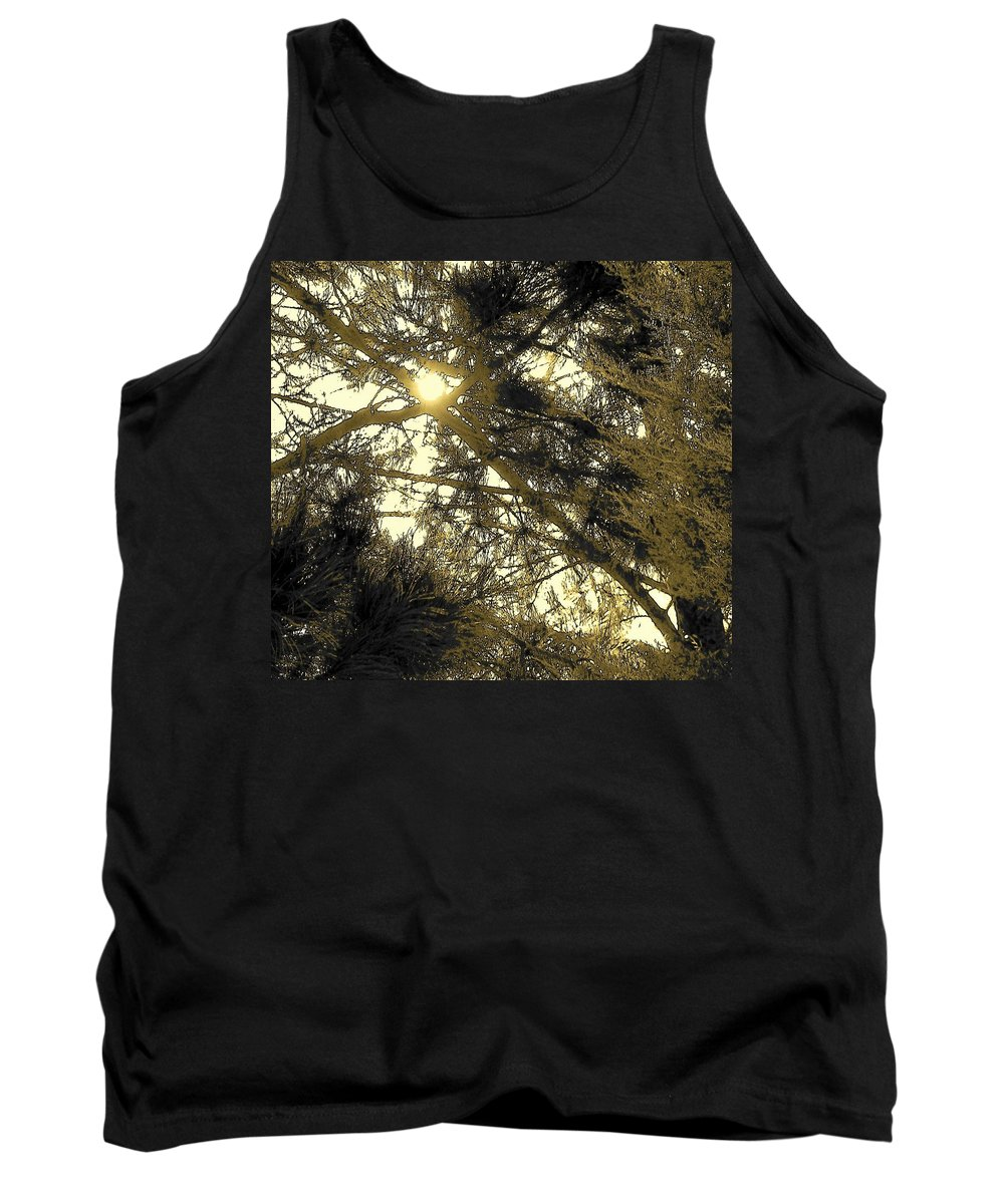 Abstract Tank Top featuring the photograph Nature In The Crosshairs by Lenore Senior