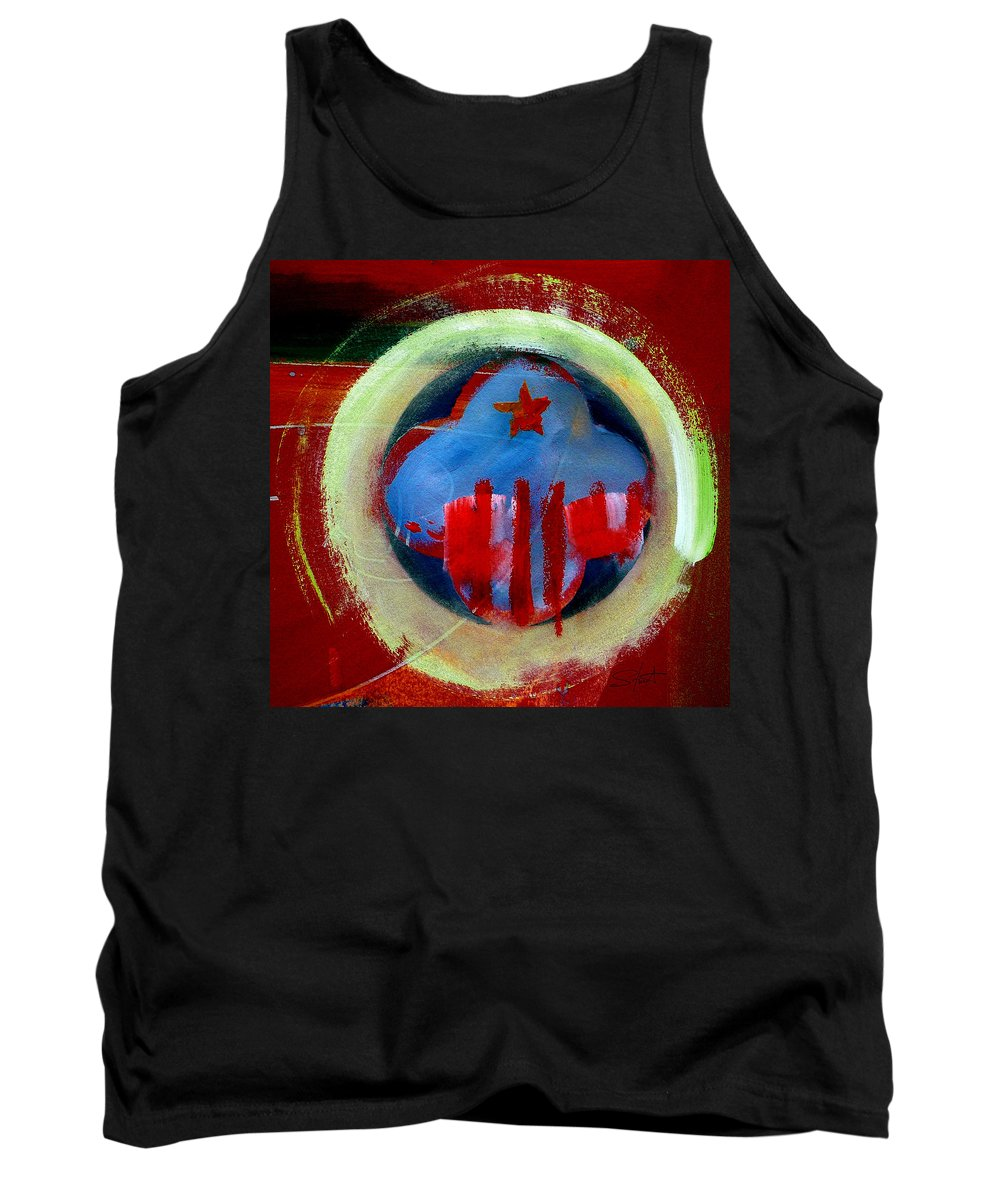 American State Tank Top featuring the painting Nebraska by Charles Stuart