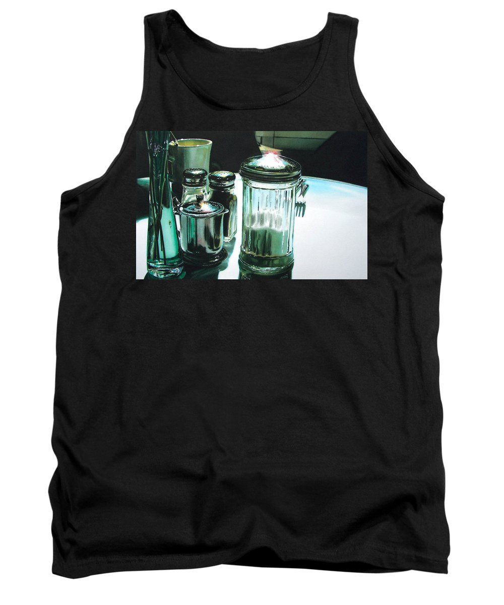 Still Life Tank Top featuring the painting Necessities by Denny Bond