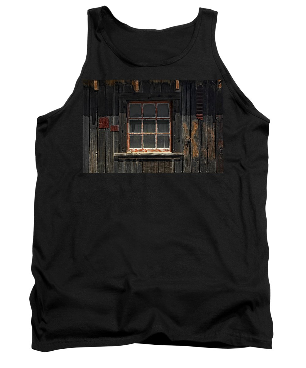 Old Window Tank Top featuring the photograph Need Windex by Donna Blackhall