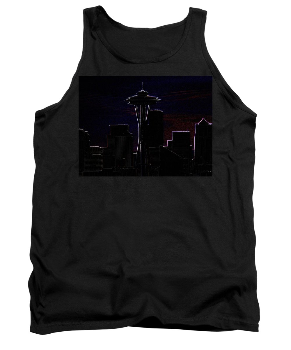 Seattle Tank Top featuring the photograph Needle From Kerry Park 2 by Tim Allen