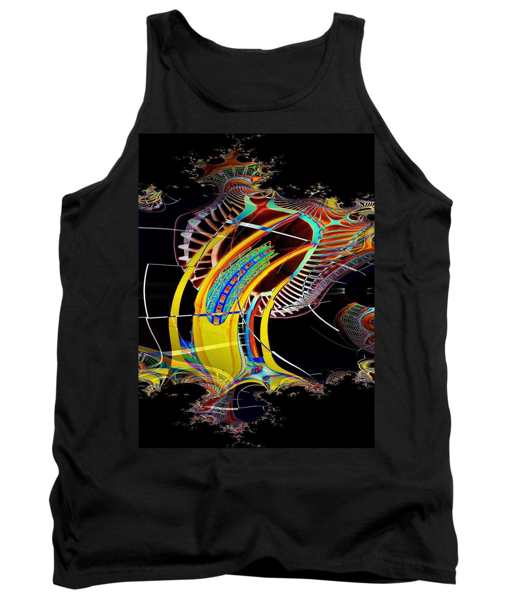 Seattle Tank Top featuring the photograph Needle In Fractal 4 by Tim Allen