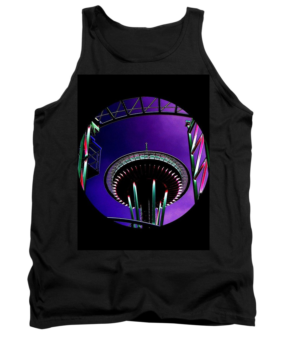 Seattle Tank Top featuring the digital art Needle Rollercoaster by Tim Allen
