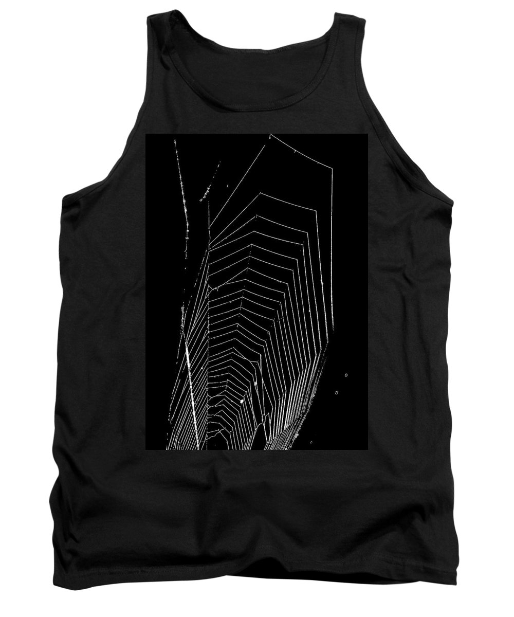 Spider Tank Top featuring the photograph Negative Space by Steve Harrington