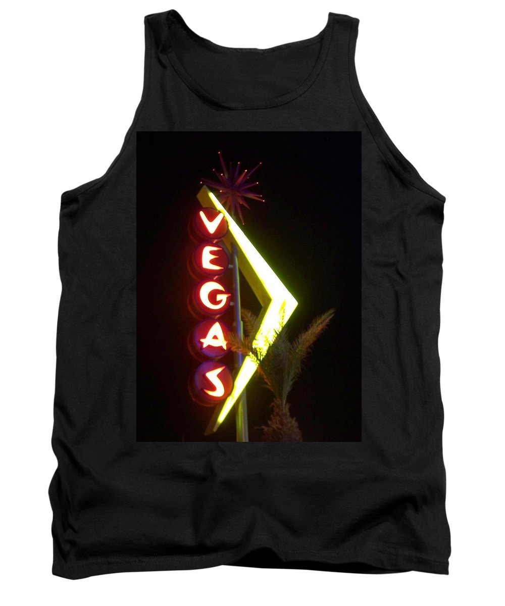 Fremont East Tank Top featuring the photograph Neon Signs 2 by Anita Burgermeister