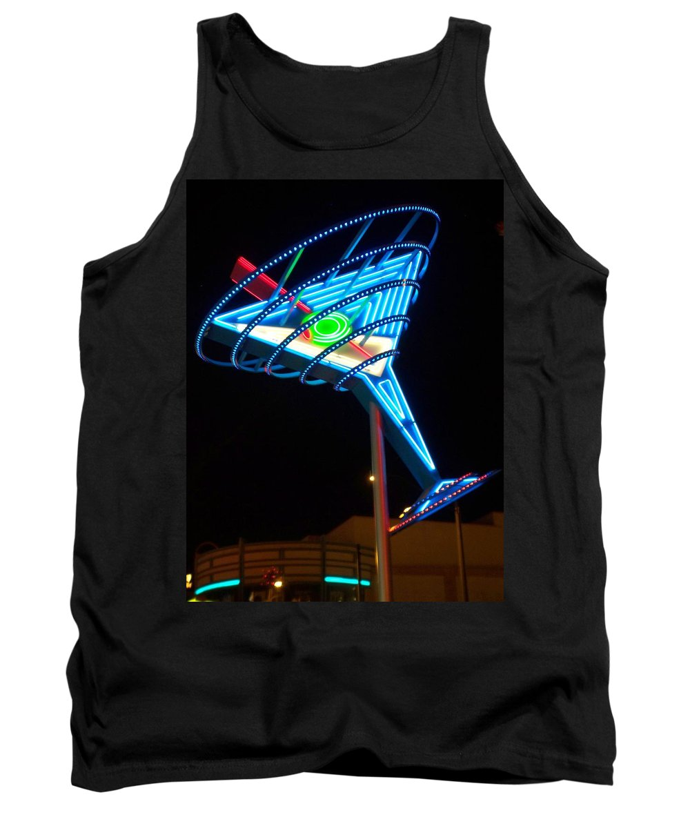 Fremont East Tank Top featuring the photograph Neon Signs 4 by Anita Burgermeister