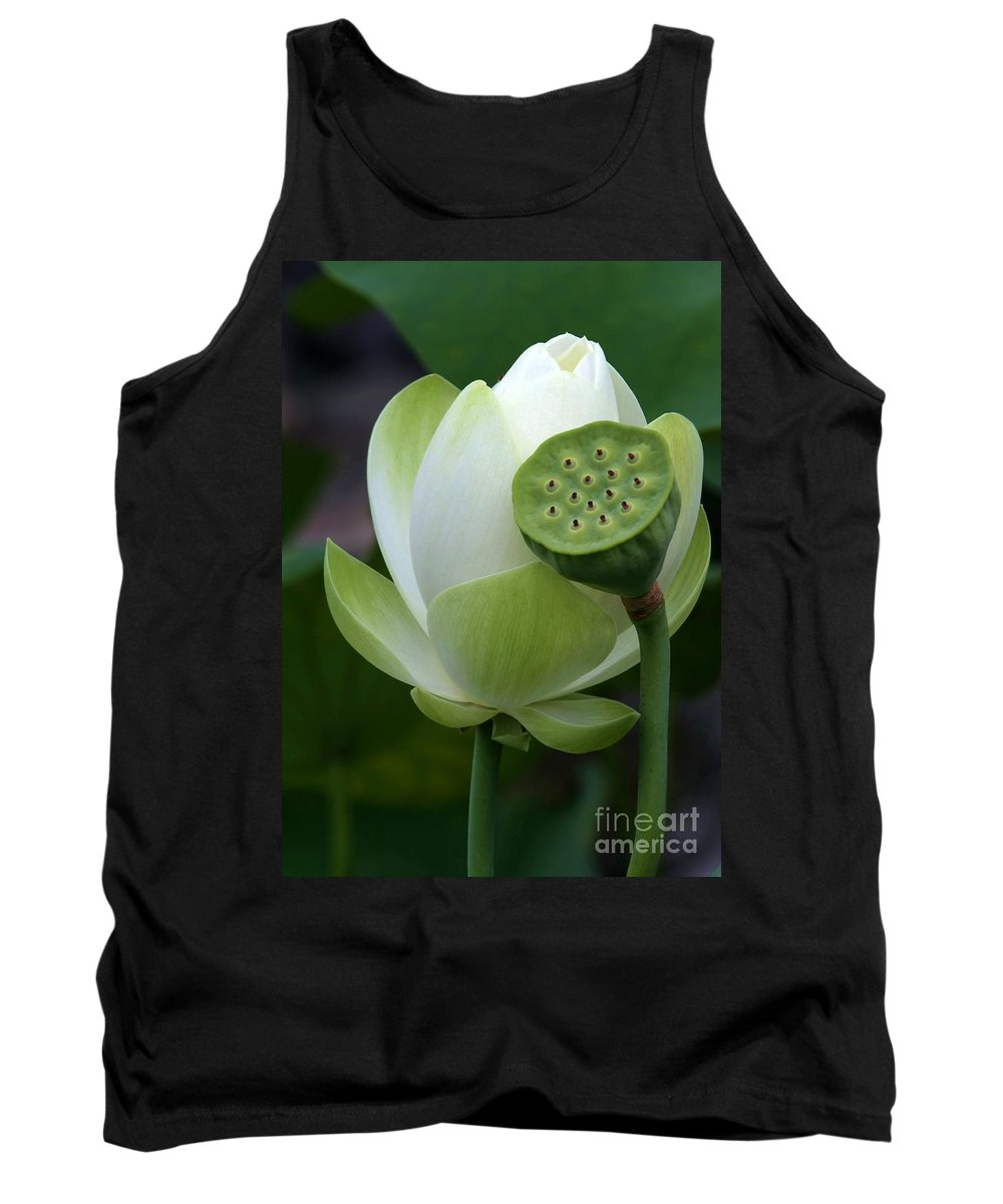 Lotus Tank Top featuring the photograph New Beginnings by Sabrina L Ryan