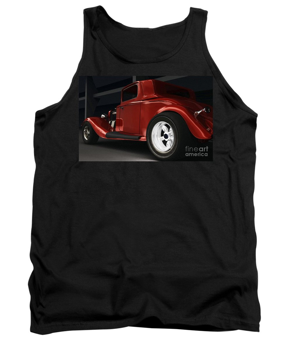 Street Rods Tank Top featuring the digital art New Kid In Town by Richard Rizzo