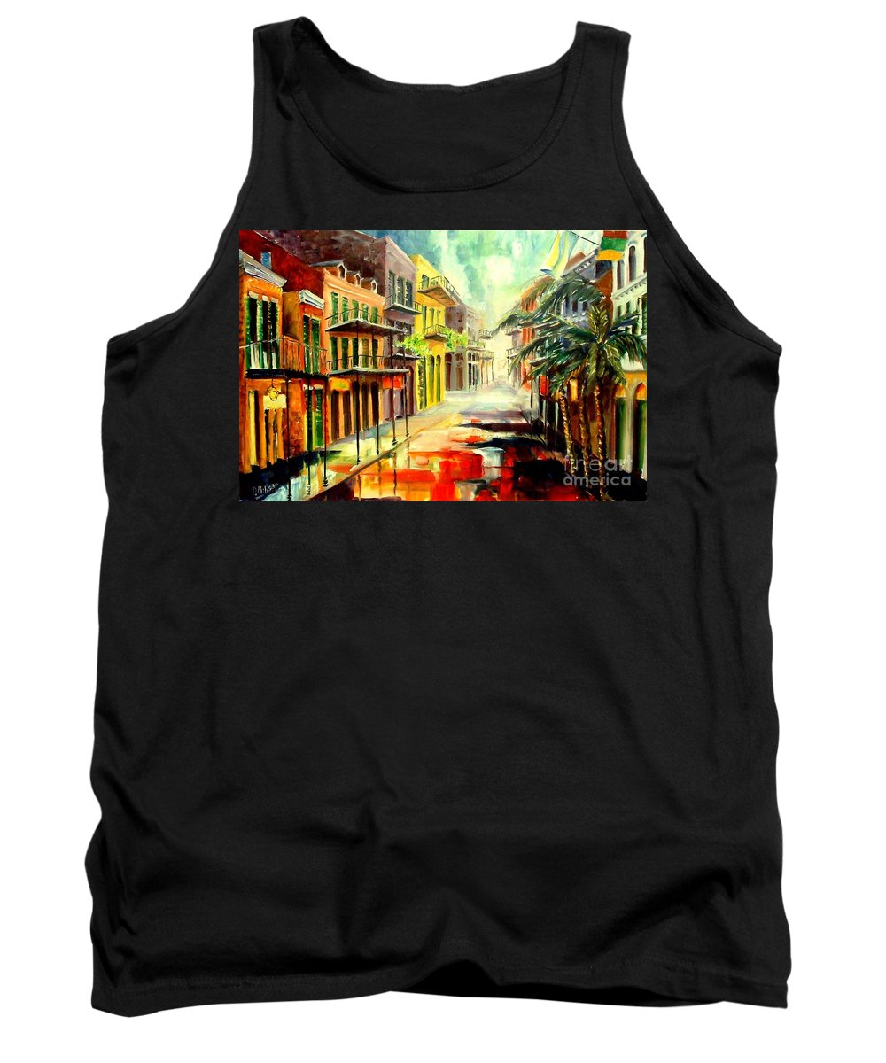 New Orleans Tank Top featuring the painting New Orleans Summer Rain by Diane Millsap