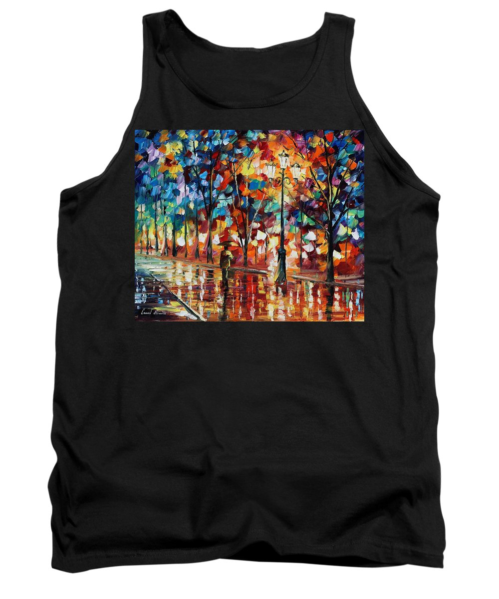 Afremov Tank Top featuring the painting New Park by Leonid Afremov