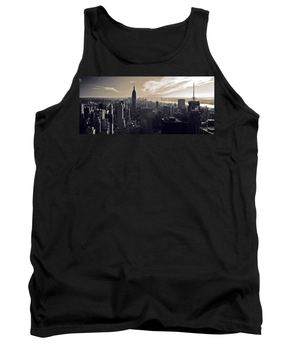 New York Tank Top featuring the photograph New York by Dave Bowman