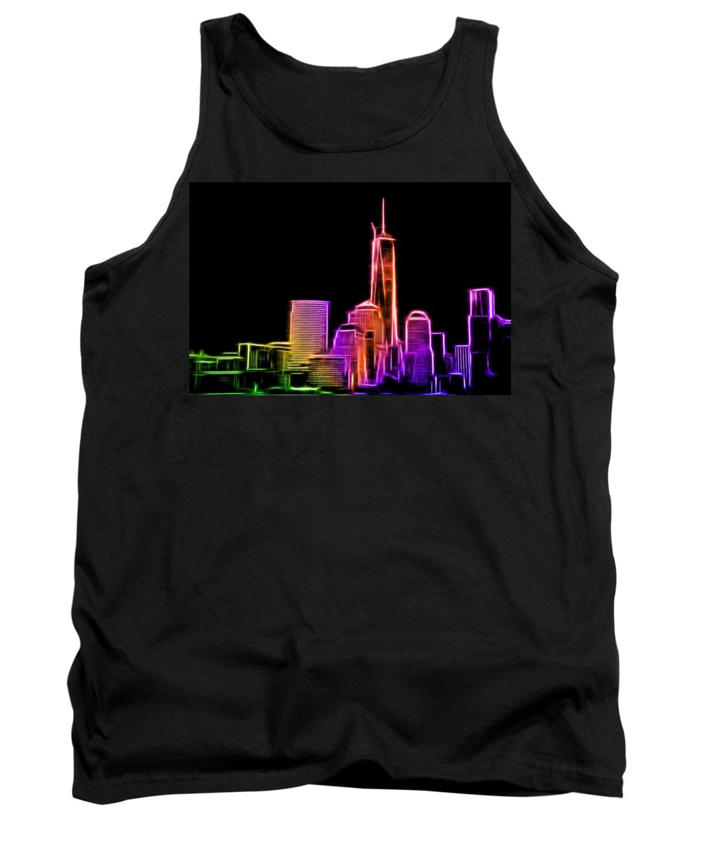 New York Tank Top featuring the photograph New York Skyline by Aaron Berg