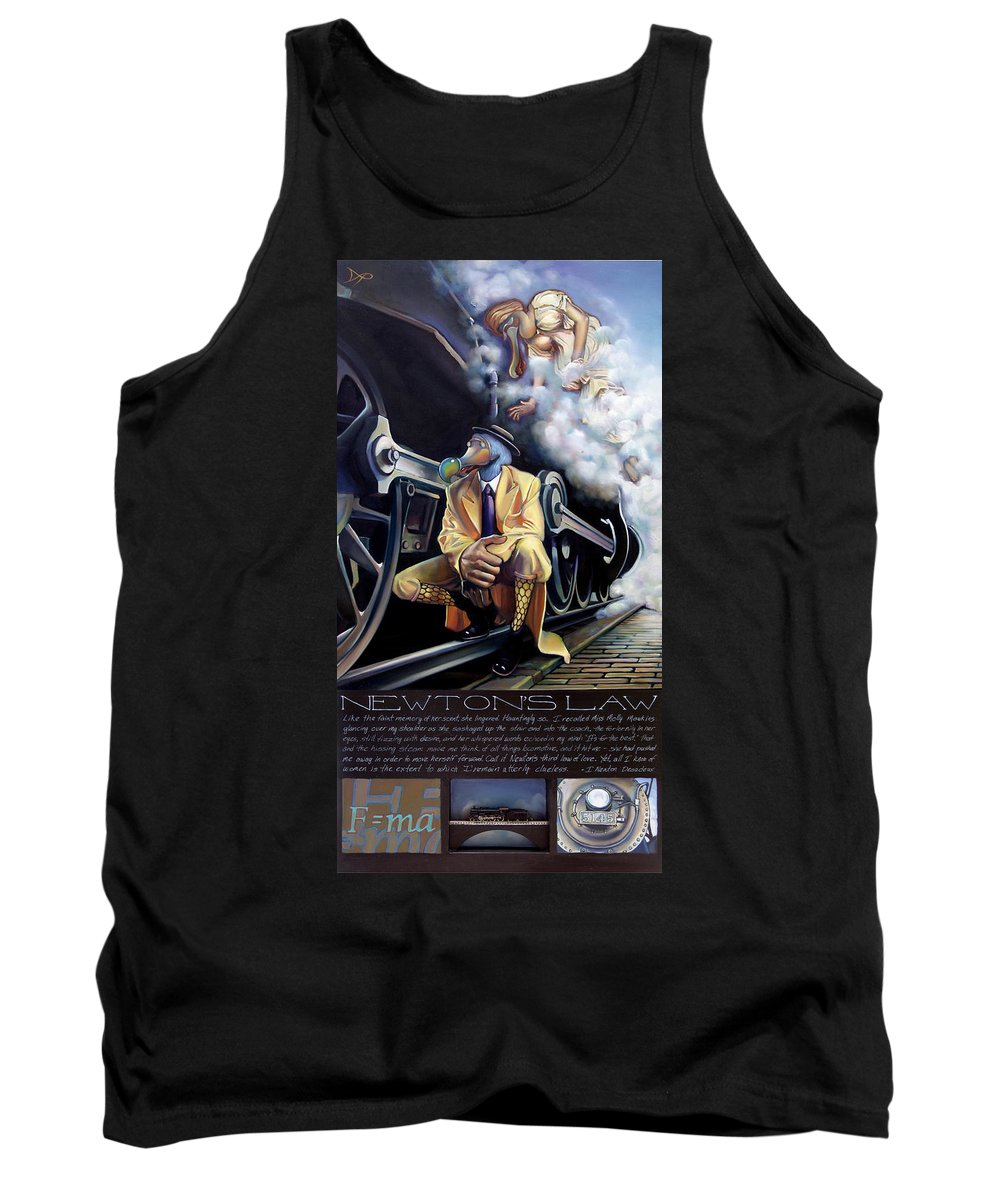 Locomotive Tank Top featuring the painting Newton's Law by Patrick Anthony Pierson