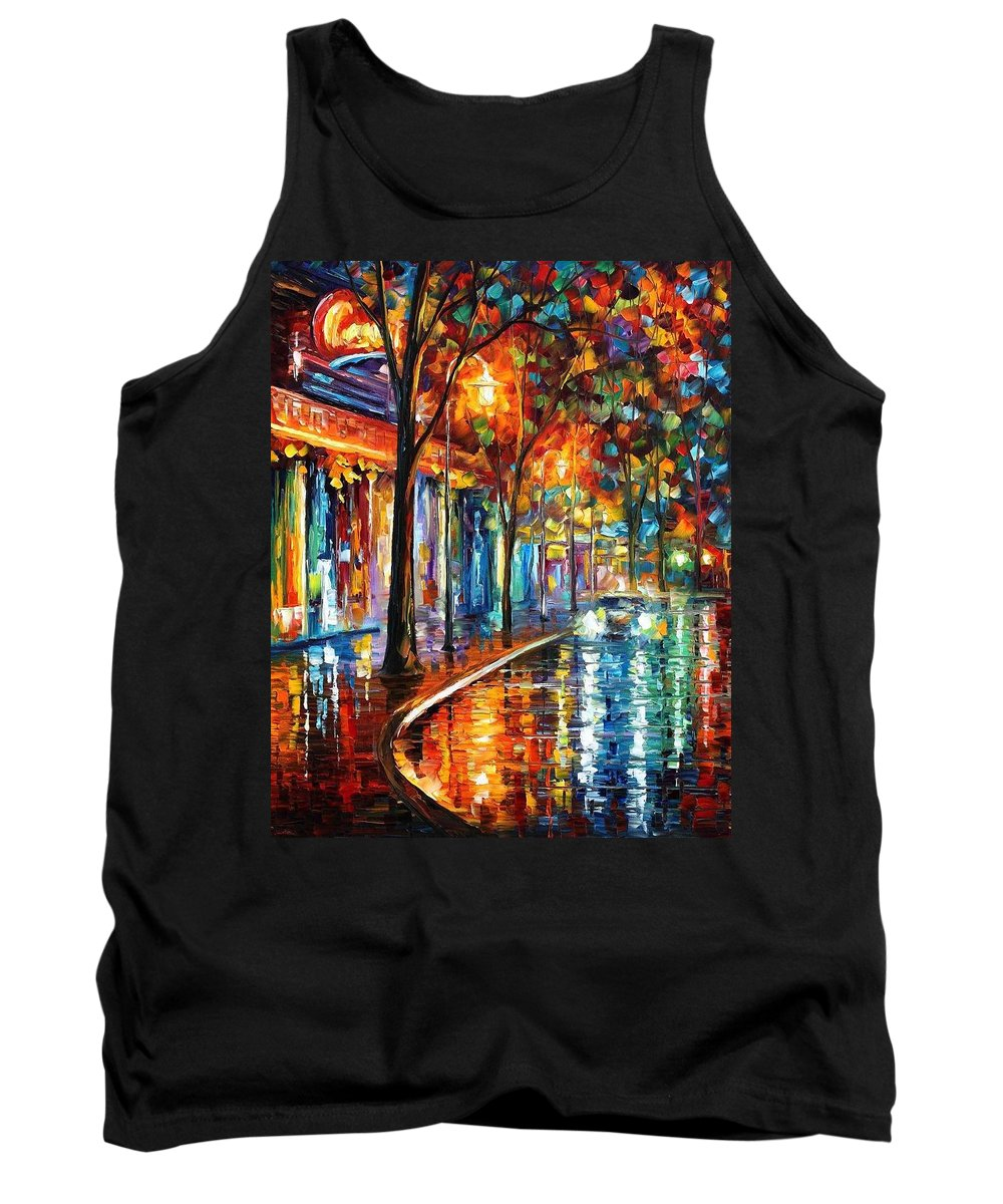 Afremov Tank Top featuring the painting Night Cafe by Leonid Afremov