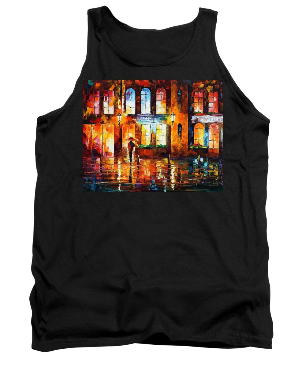 Afremov Tank Top featuring the painting Night City by Leonid Afremov