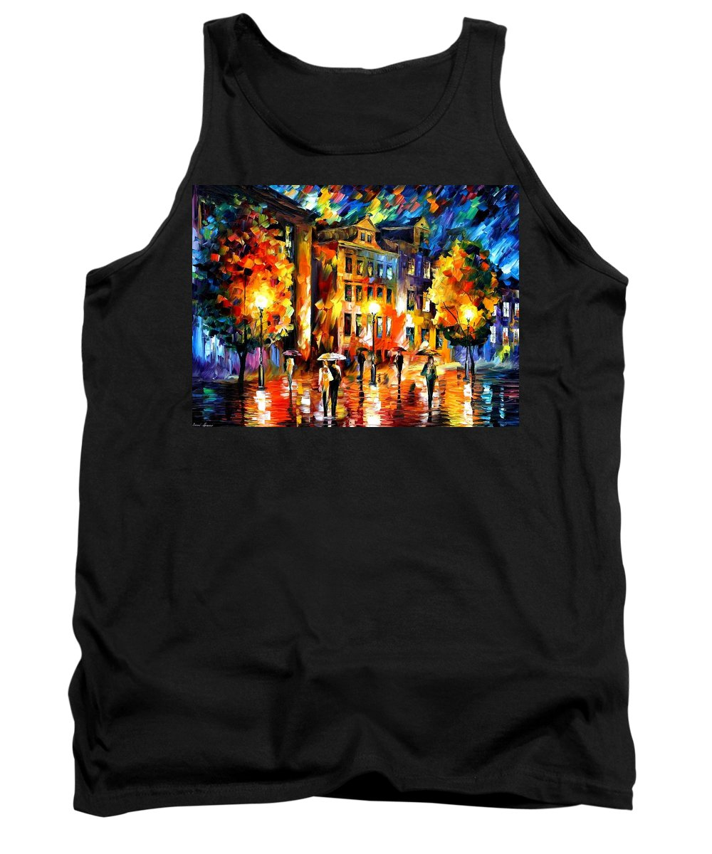 Afremov Tank Top featuring the painting Night Enigma by Leonid Afremov