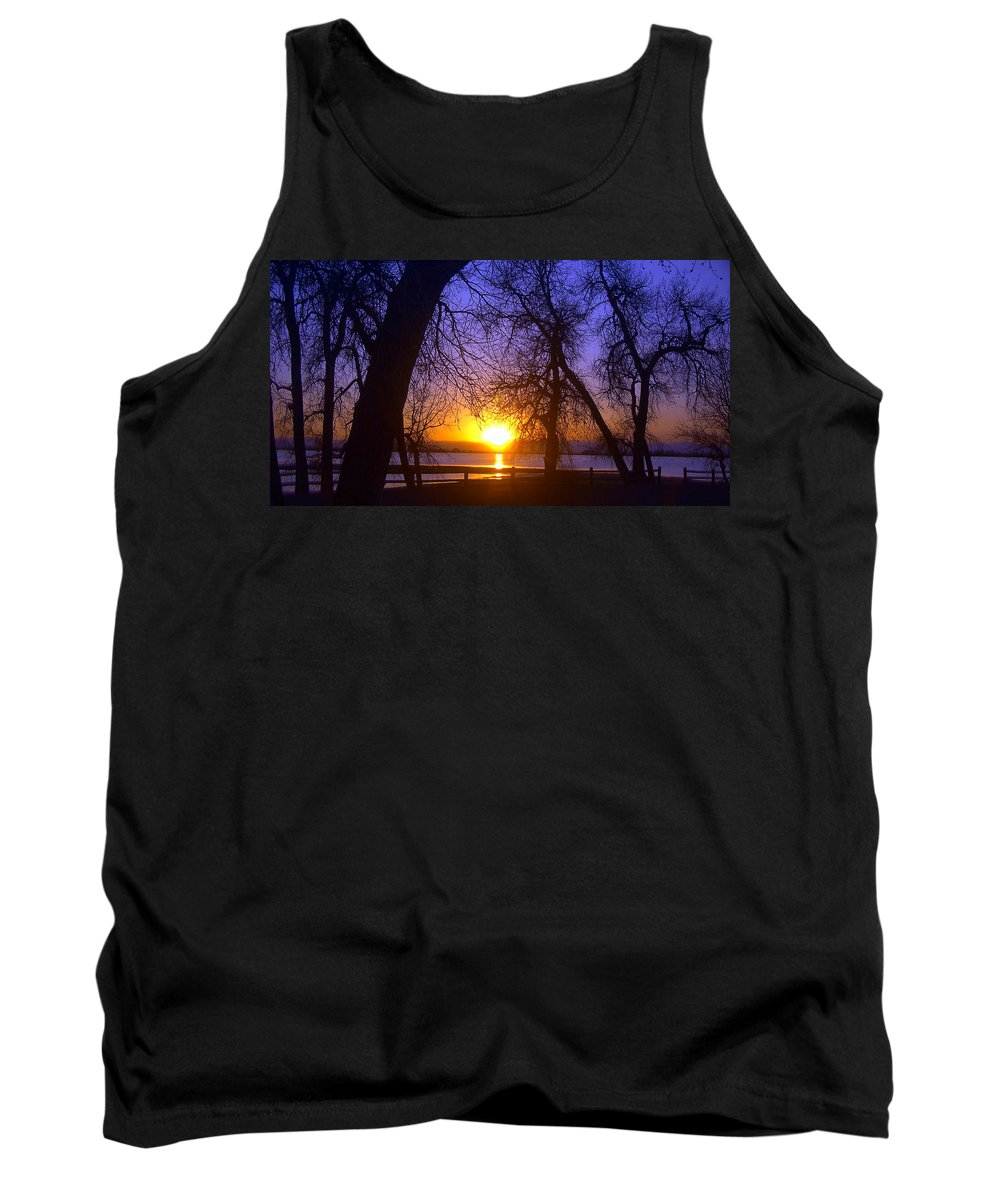 Barr Lake Tank Top featuring the photograph Night In Barr Lake Colorado by Merja Waters