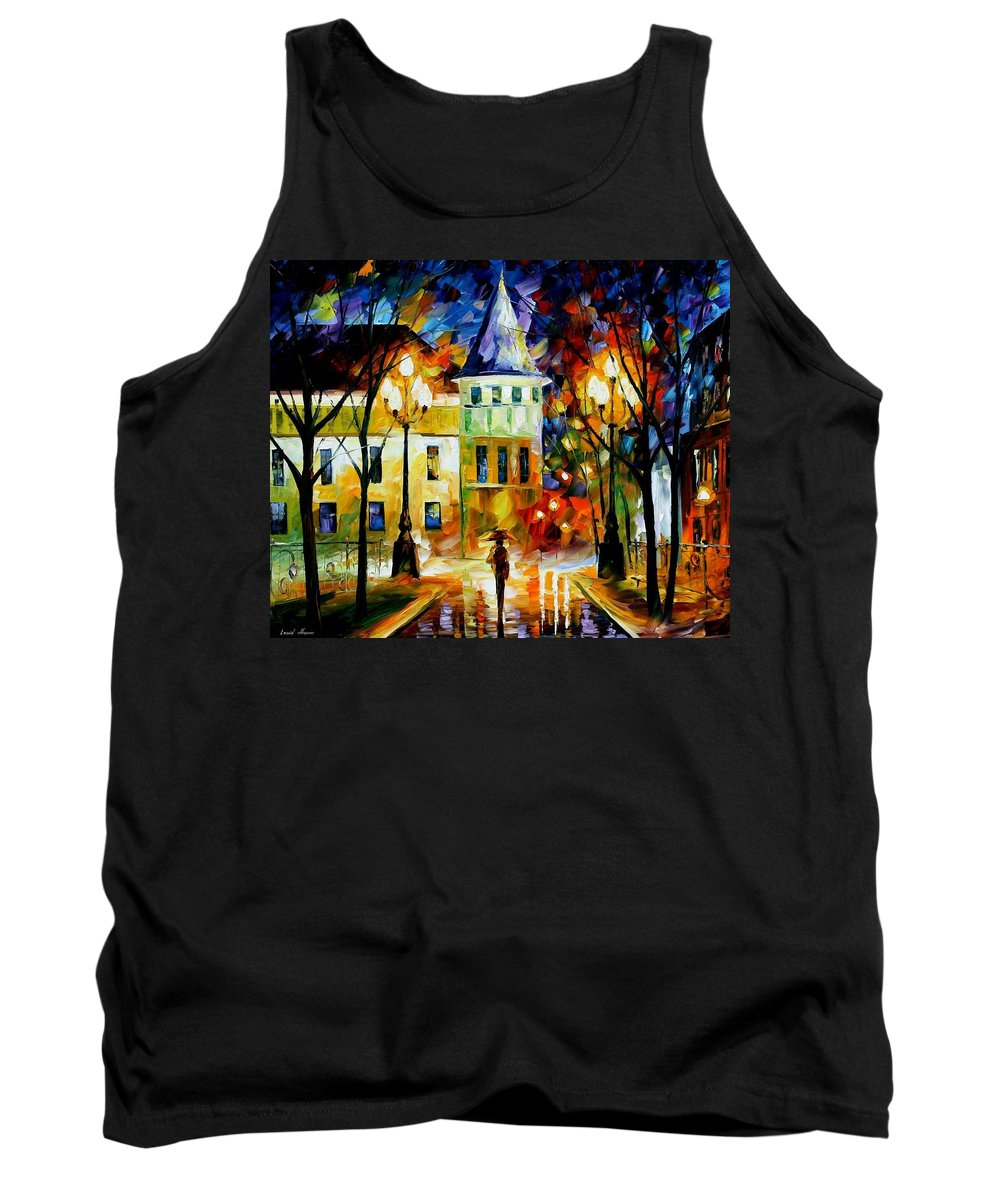 Afremov Tank Top featuring the painting Night Magic by Leonid Afremov