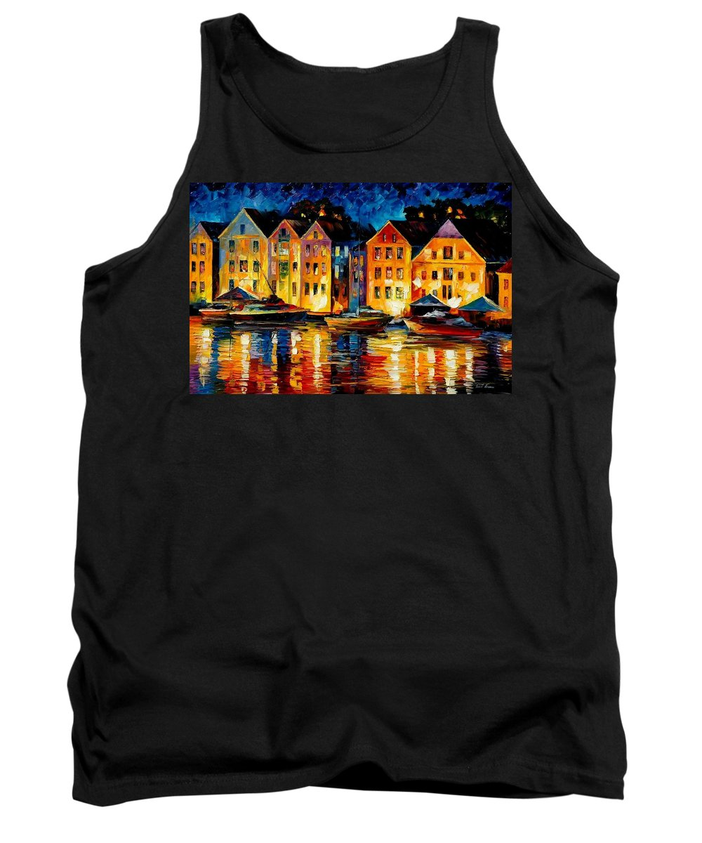City Tank Top featuring the painting Night Resting Original Oil Painting by Leonid Afremov