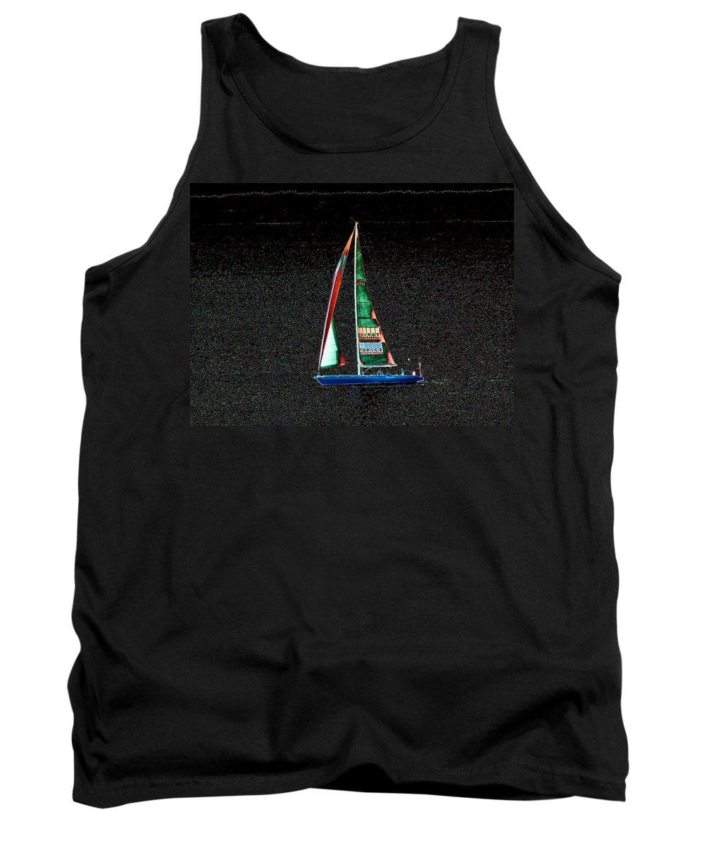 Seattle Tank Top featuring the photograph Night Sail 2 by Tim Allen