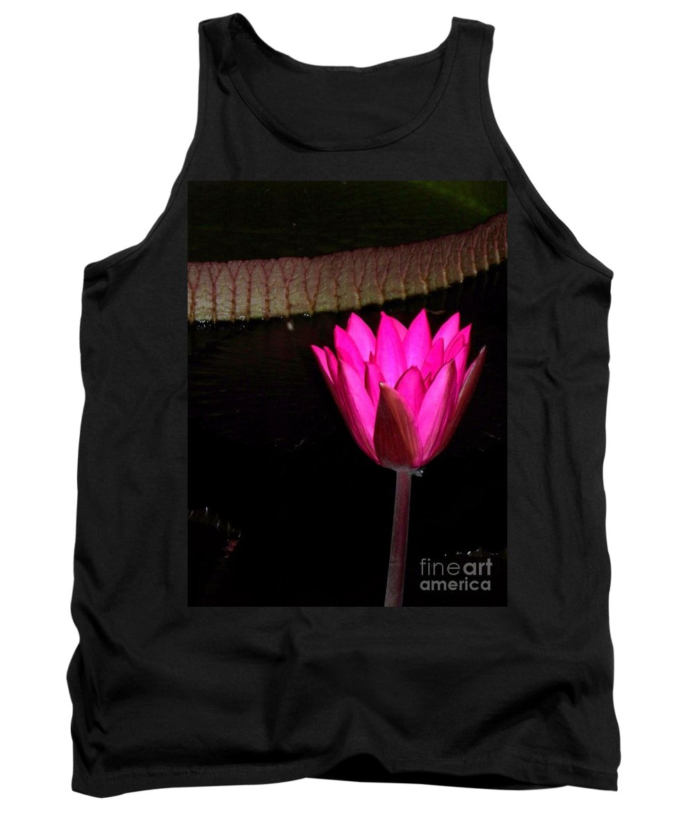 Photograph Tank Top featuring the photograph Night Time Lily Monet by Eric Schiabor