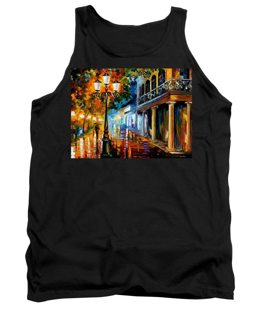 Afremov Tank Top featuring the painting Night Transformation by Leonid Afremov