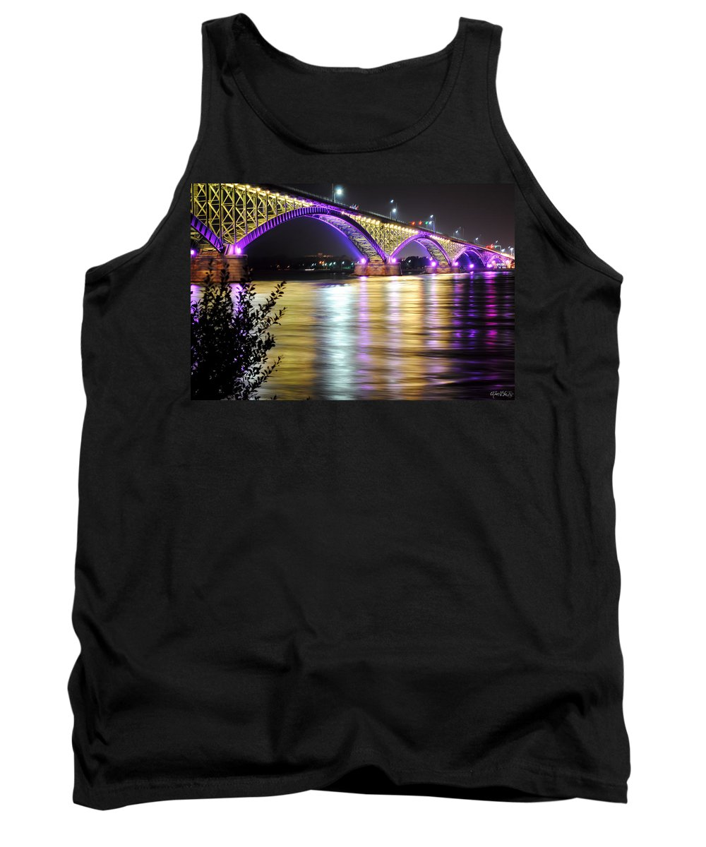 Tank Top featuring the photograph Night Walk On The Break Wall by Michael Frank Jr