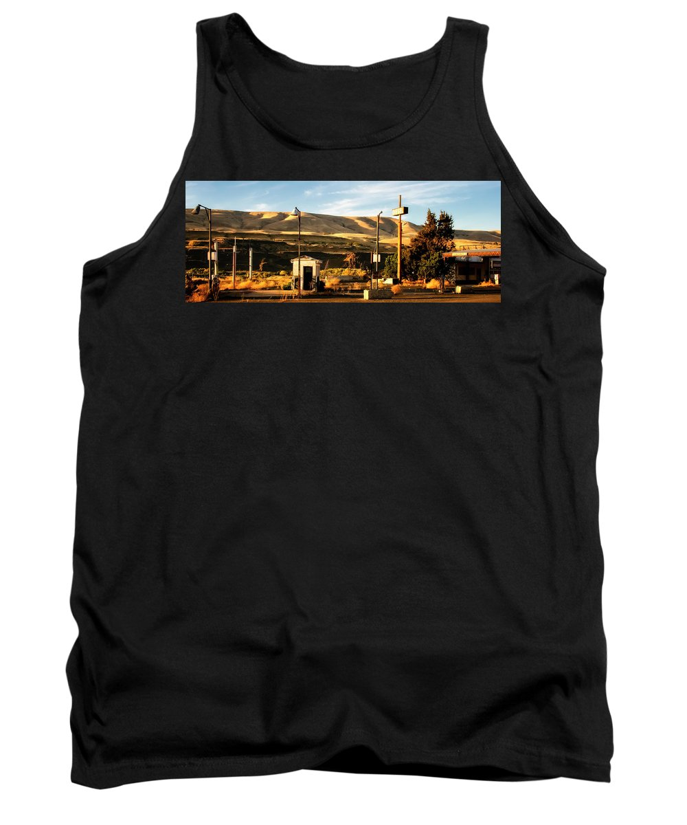 Abandoned Gas Station Tank Top featuring the photograph No Gas... by Albert Seger