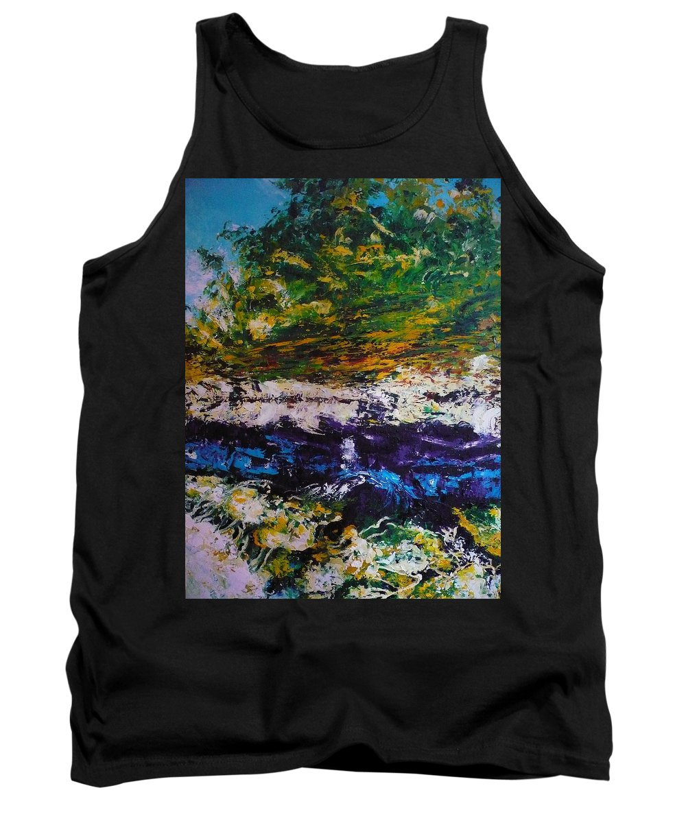 Reflection Tank Top featuring the painting No Title by Ericka Herazo