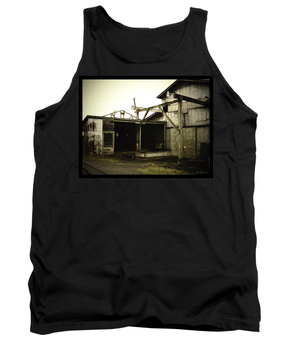 Warehouse Tank Top featuring the photograph No Trespassing by Tim Nyberg
