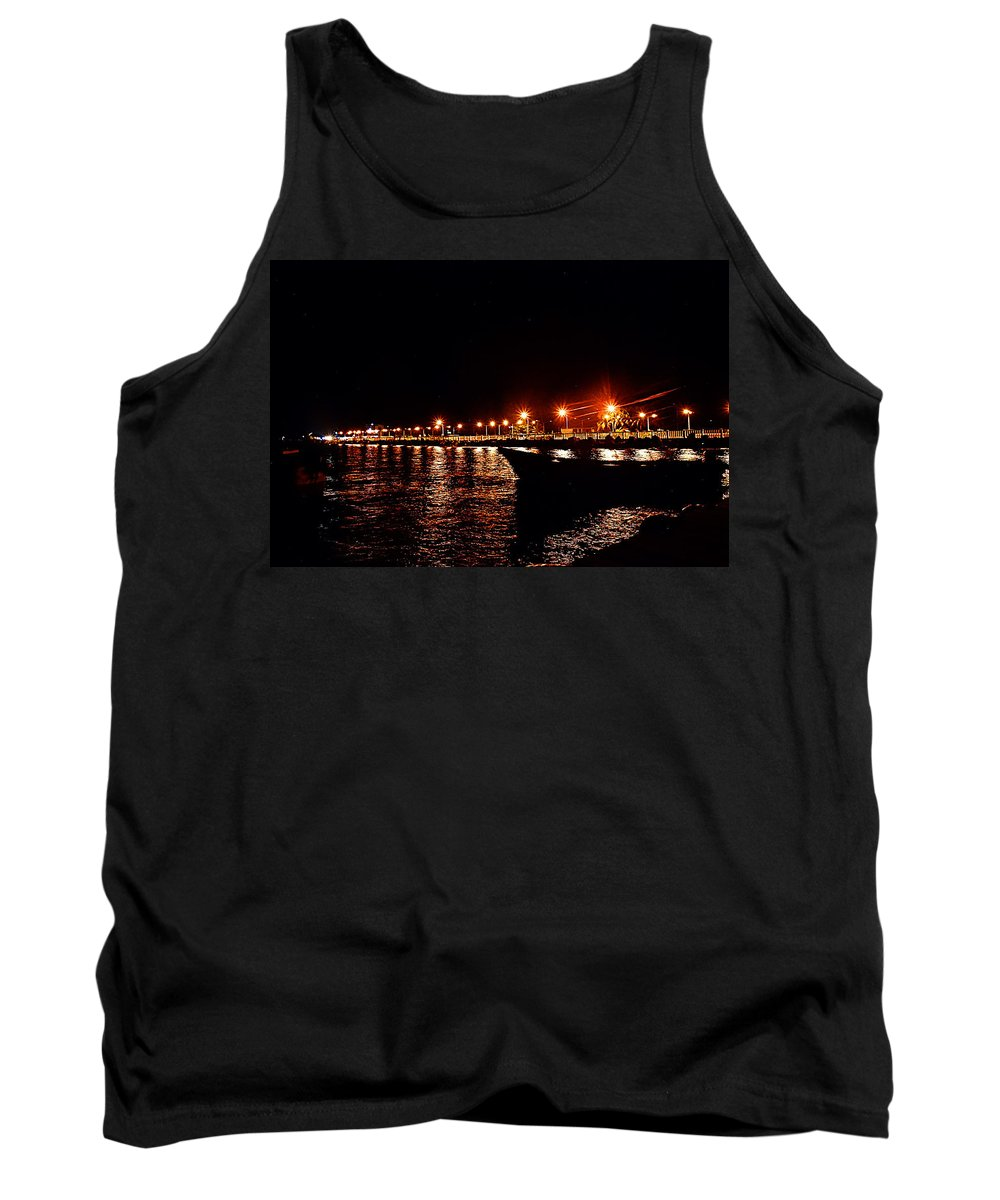 Nocturne Tank Top featuring the photograph Nocturne Boat by Galeria Trompiz