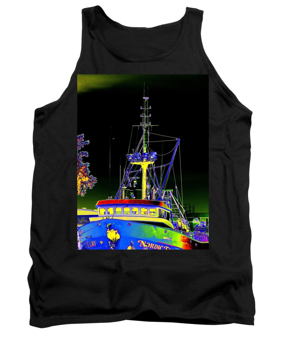 Seattle Tank Top featuring the digital art Nordic Fury by Tim Allen