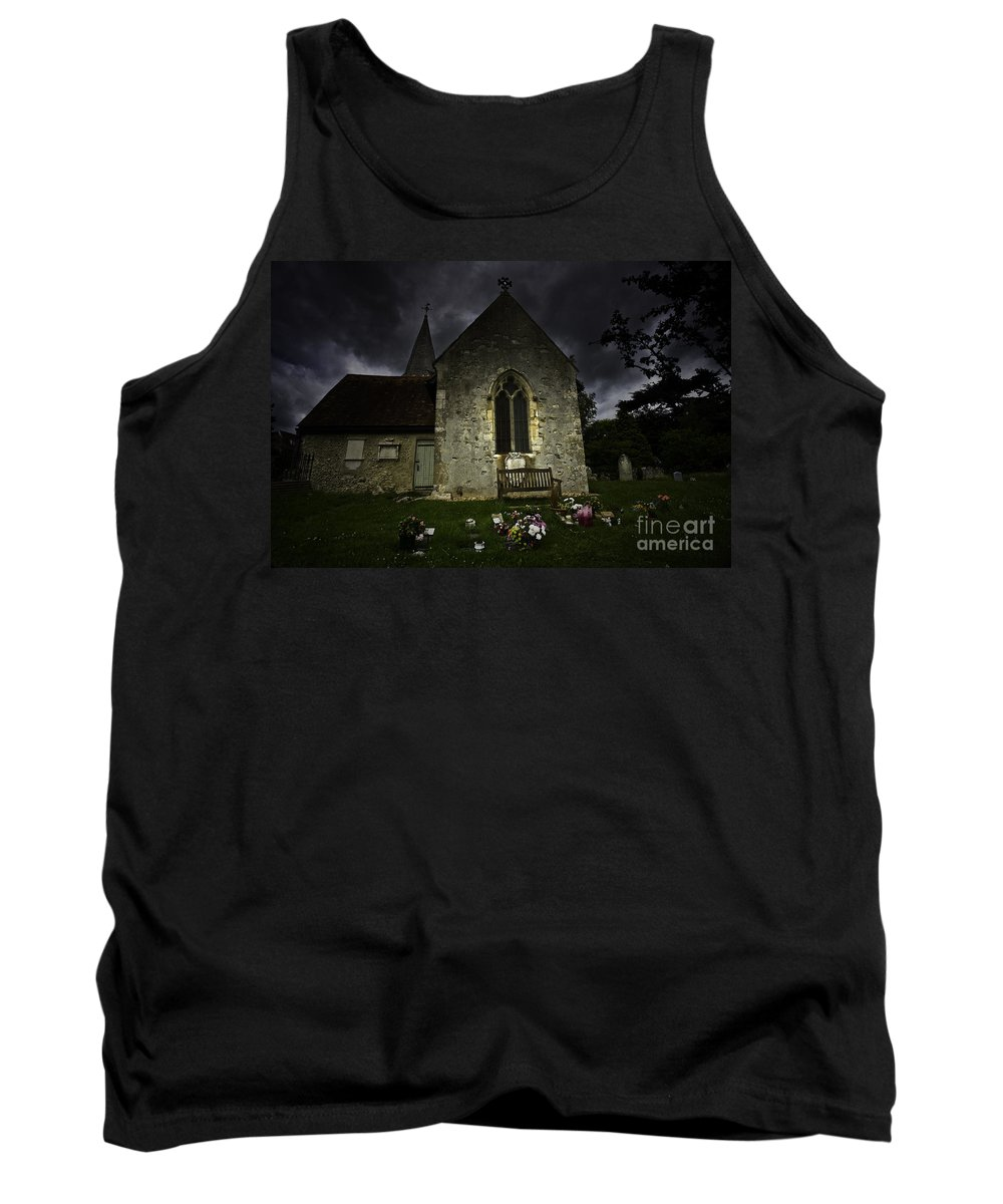 Church Tank Top featuring the photograph Norman Church At Lissing Hampshire England by Sheila Smart Fine Art Photography