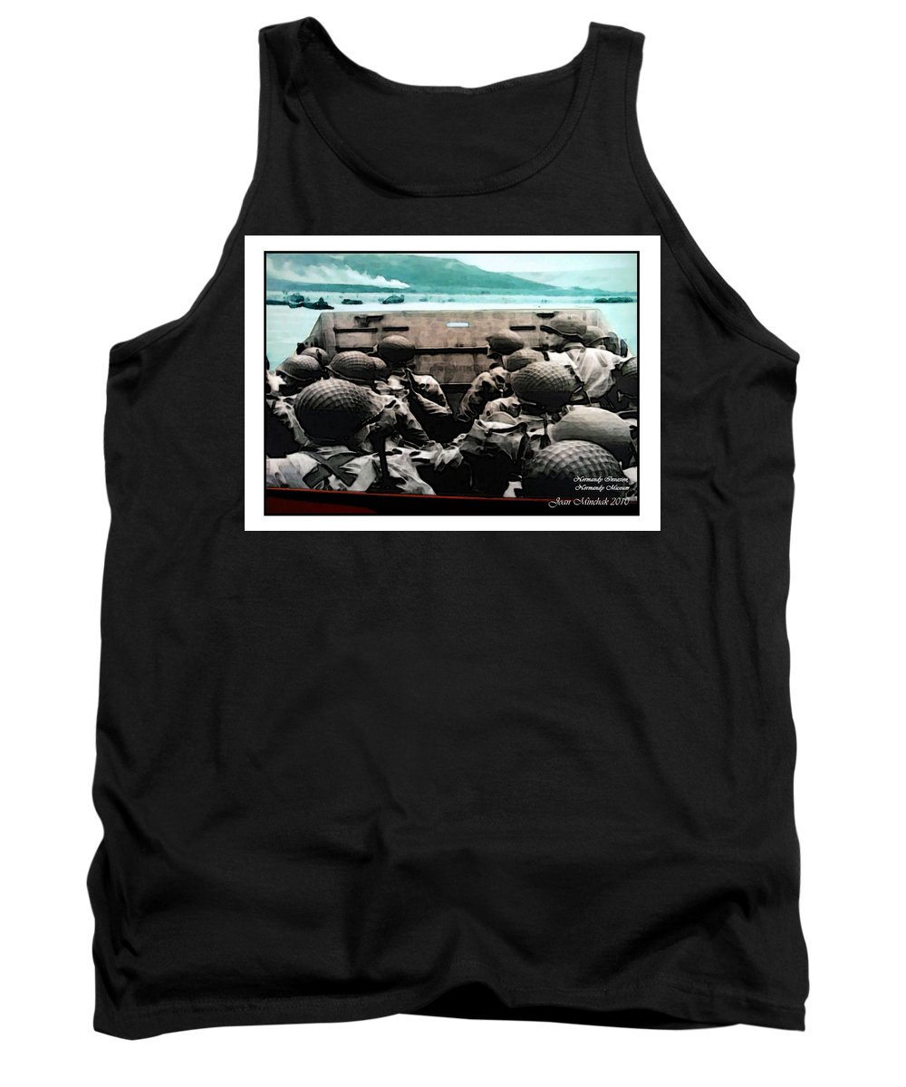 American Tank Top featuring the photograph Normandy Soldiers by Joan Minchak