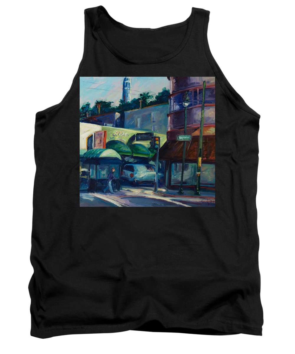 Cityscape Tank Top featuring the painting North Beach by Rick Nederlof