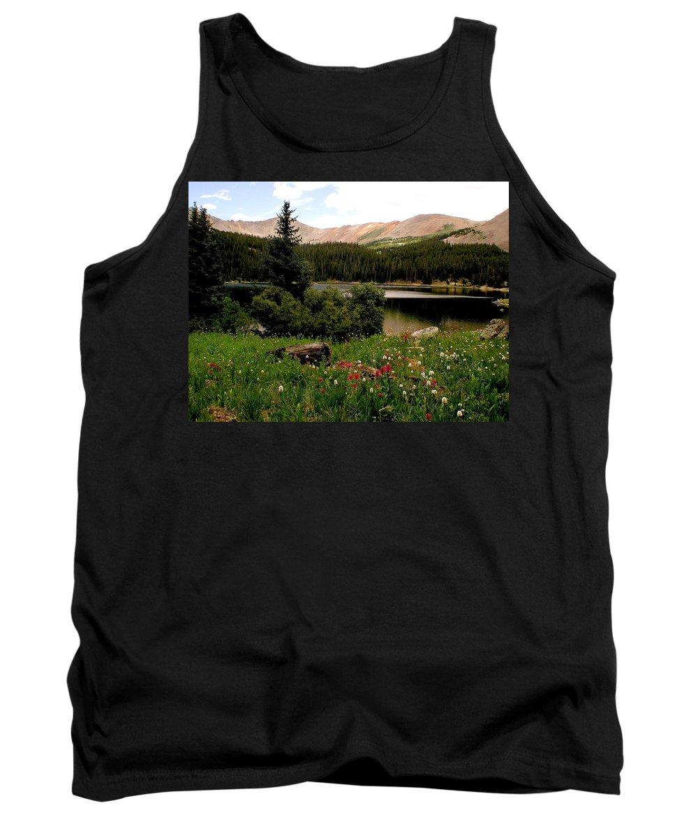 Lake Tank Top featuring the photograph North Fork Lake Colorado by Carol Milisen