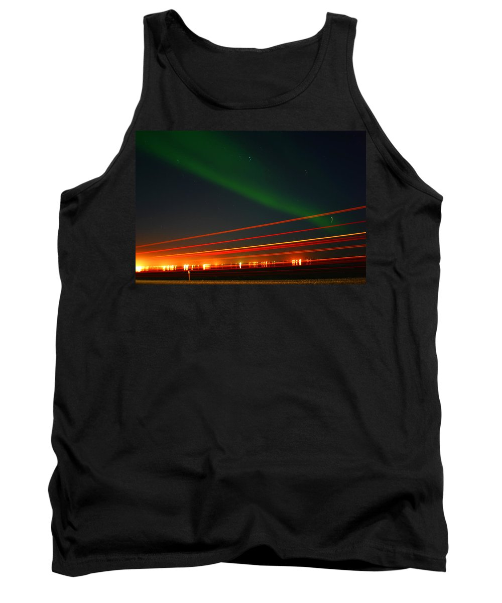 Northern Lights Tank Top featuring the photograph Northern Lights by Anthony Jones