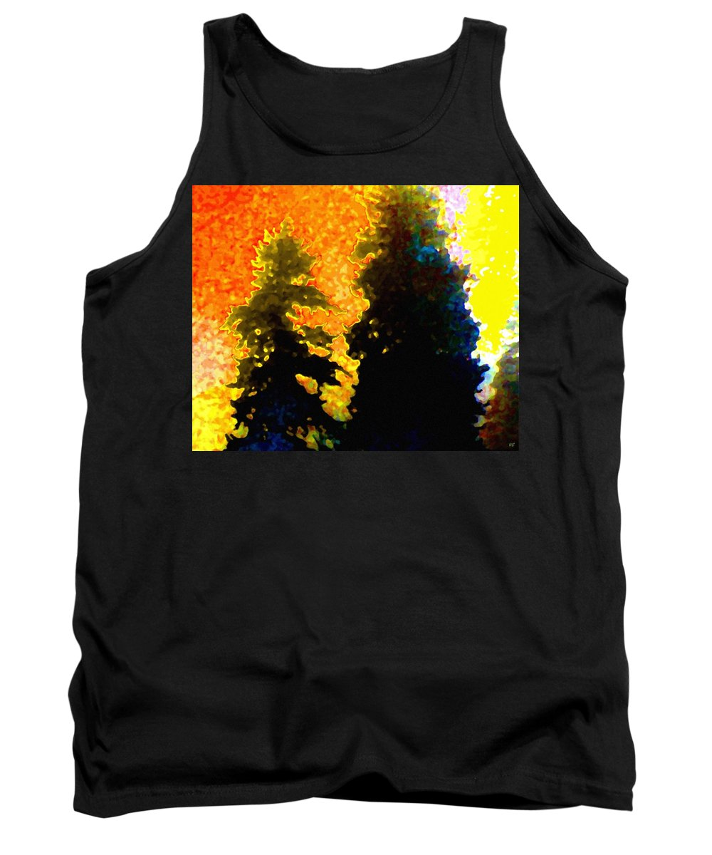 Abstract Tank Top featuring the digital art Northern Sunrise by Will Borden