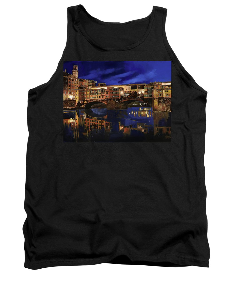 Firenze Tank Top featuring the painting Notturno Fiorentino by Guido Borelli