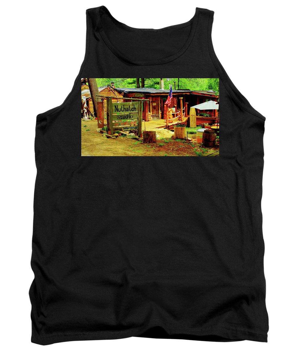 Wilderness Tank Top featuring the photograph Nuthatch Studio by CHAZ Daugherty