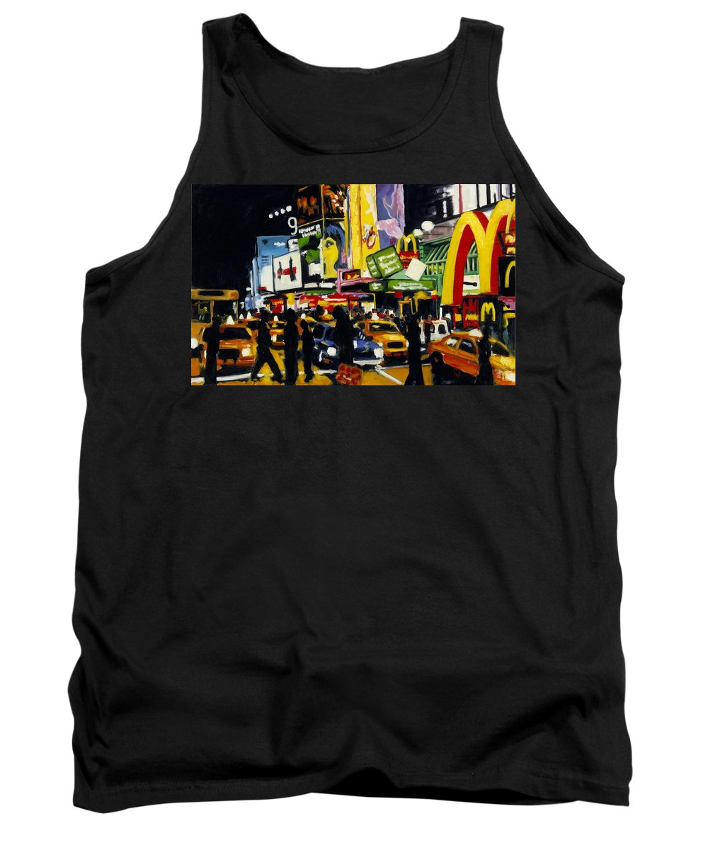 New York Tank Top featuring the painting Nyc II The Temple Of M by Robert Reeves