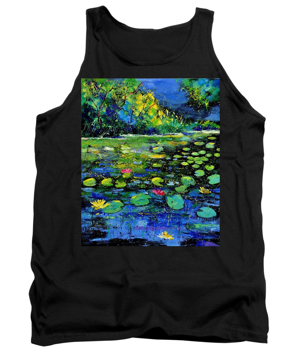 Nympheas Tank Top featuring the painting Nympheas by Pol Ledent