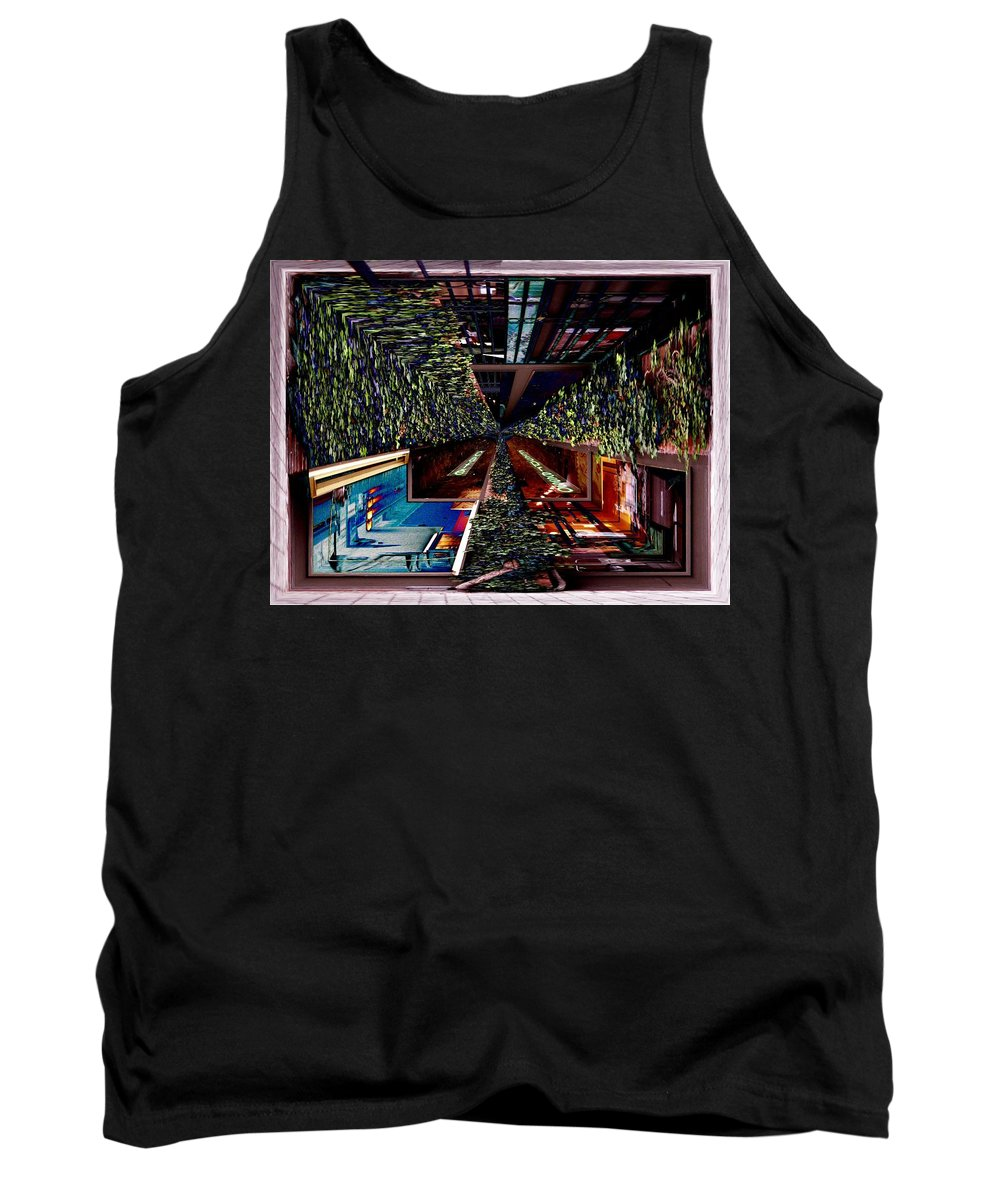 Seattle Tank Top featuring the photograph Occidental Park Cafe by Tim Allen