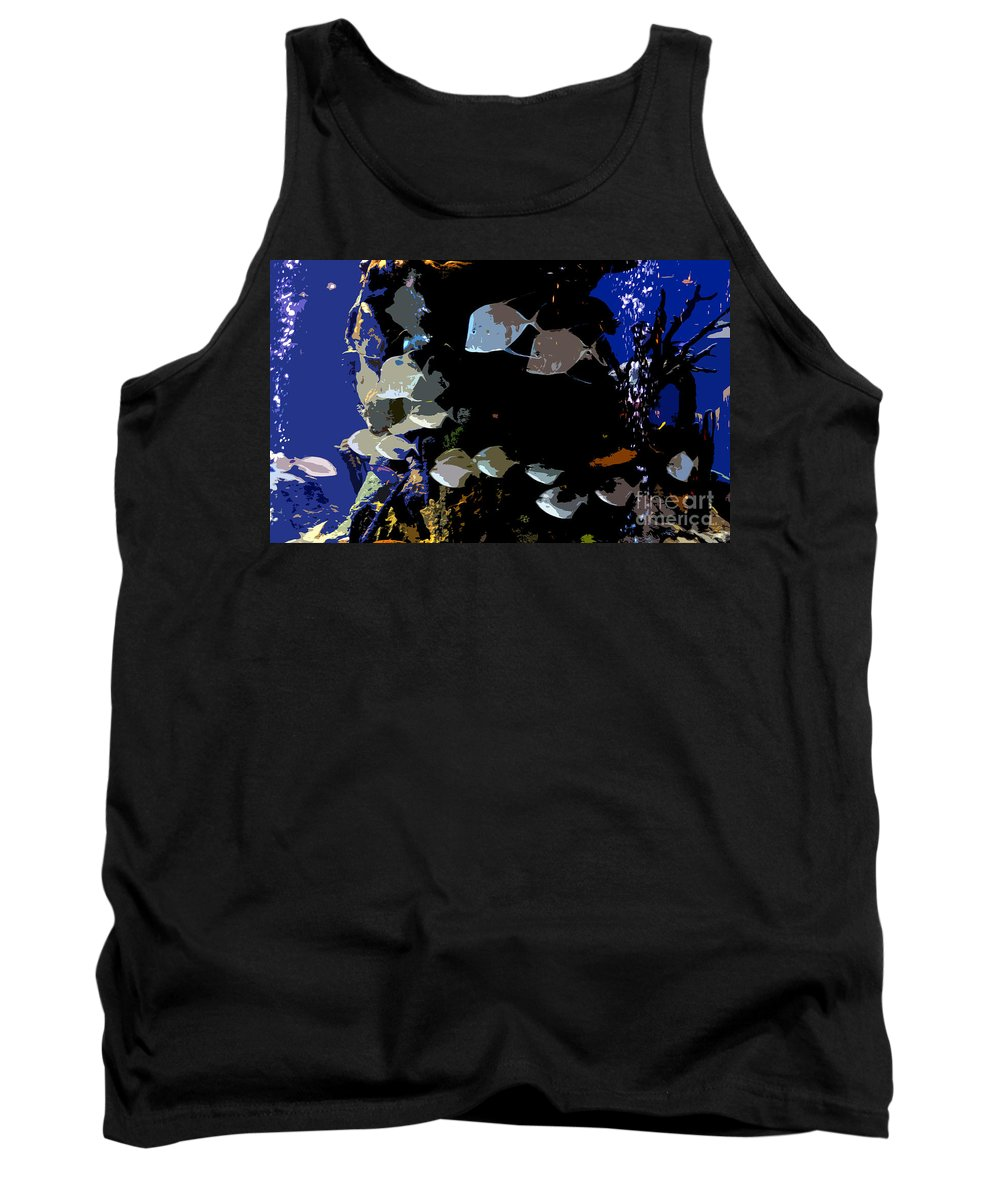 Ocean Tank Top featuring the painting Ocean Blue by David Lee Thompson