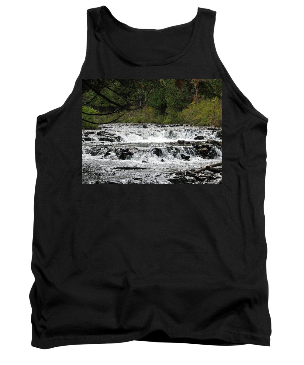 Waterfall Tank Top featuring the photograph Ocqueoc by Kelly Mezzapelle