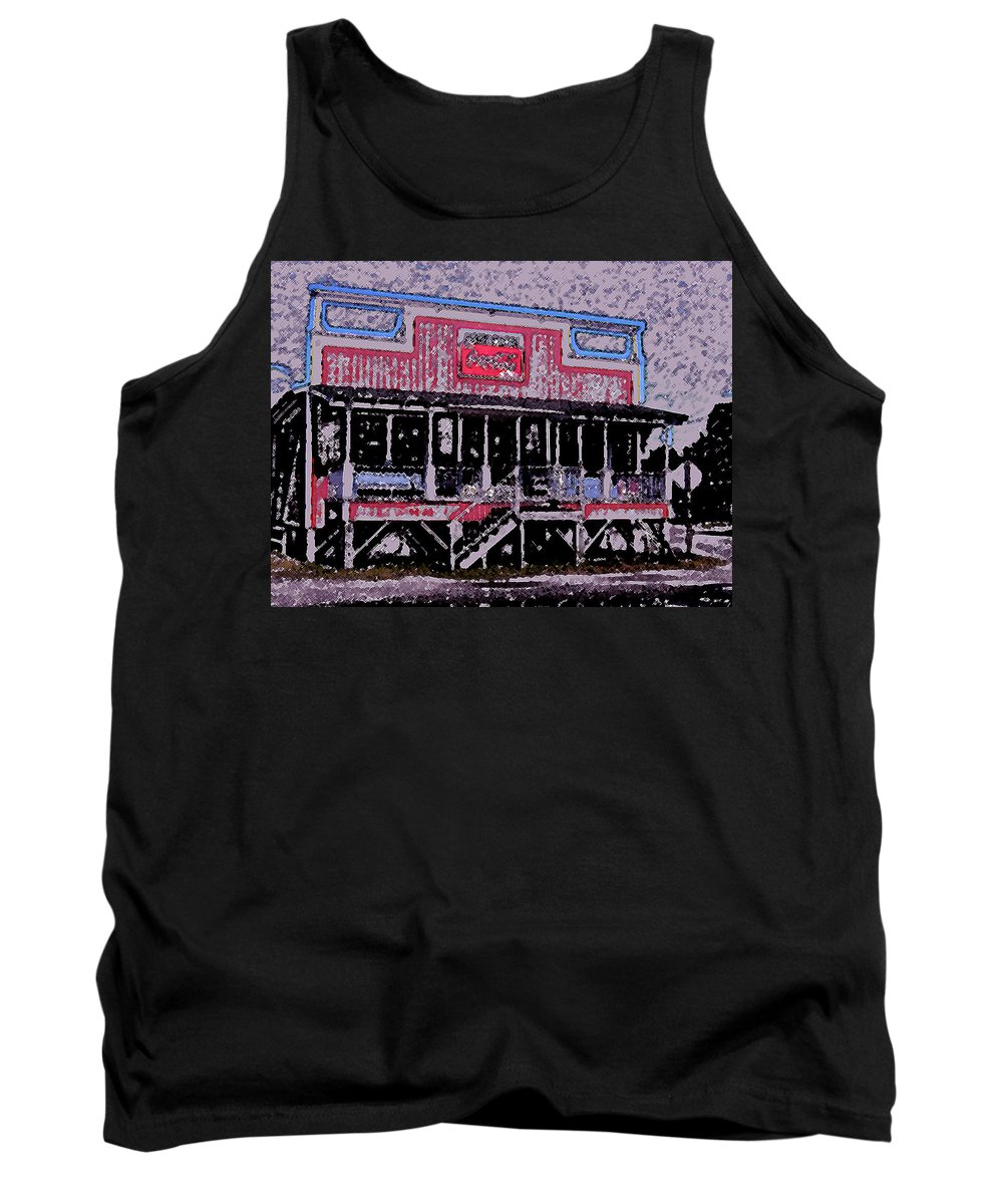 Retail Tank Top featuring the photograph Ocracoke Island Shop by Wayne Potrafka